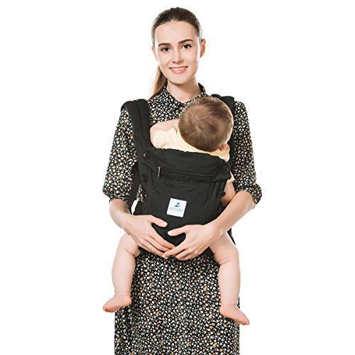 Kinmbra New Design Baby Carrier with Hip seat for infant & Toddlers (Black) by Kinmbra