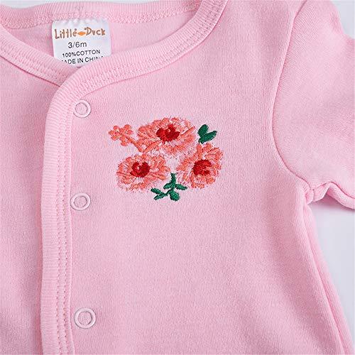 QSEFT Mono del Bebé del Otoño 100% Algodón Muchachos del Bebé Niñas Mameluco De Manga Larga Bebé Recién Nacido Bebé Recién Nacido 8 Piezas Set 0-9 Meses: ...