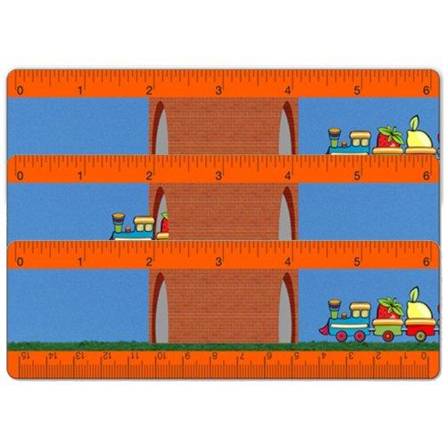 Set of 3 Animated 6 Inch Lenticular Ruler Bookmark Kids Toy Train Fruit -