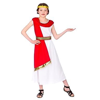 Childrens Girls Roman Princess Costume for Ancient Rome Greek Latin ...
