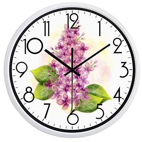 LMYLY MuteFactory Decoration Beautiful Hyacinth Wall Clock