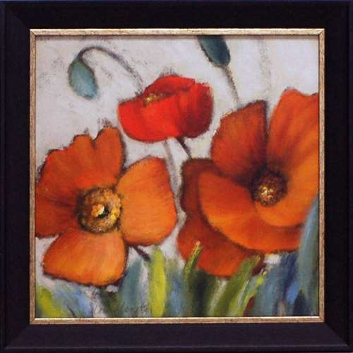 Artistic Reflections Poppy Splendor Square III Framed Art