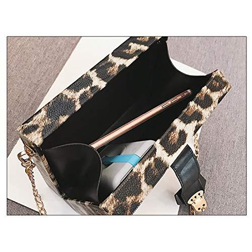 colore Leather Kervinfendriyun 2 Mini Leopard Womens Print Tracolla Yy4 Custodia 3 Pack Pu Messenger Bag 7Onxznf