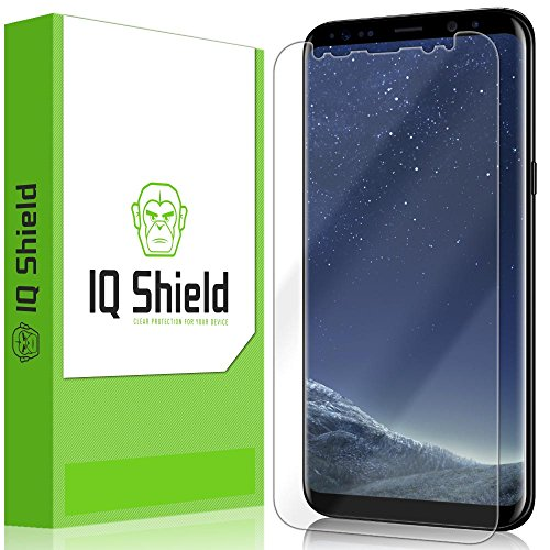 Galaxy S8 Plus Screen Protector (Not Glass)(Not Case Friendly), IQ Shield LiQuidSkin Full Coverage Screen Protector for Galaxy S8 Plus (S8+) HD Clear Anti-Bubble Film