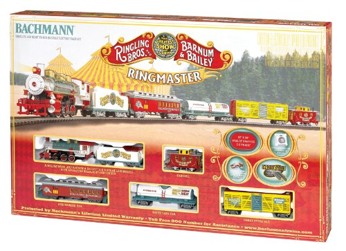 Bachmann Industries Ringling Bros. and Barnum & Bailey Ringmaster HO Scale RTR Electric Train Set (Barnum Bros Bailey Circus Train Ringling)