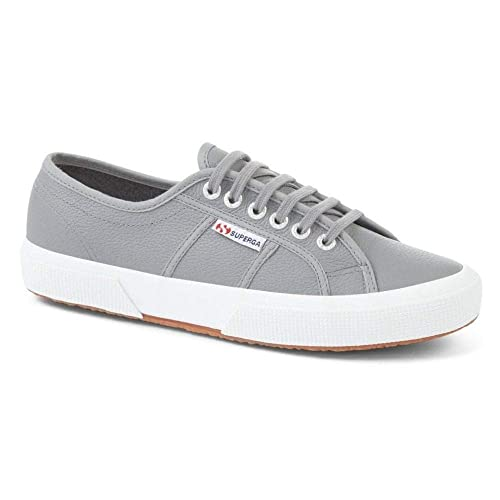 73ce9d1a5a951 Superga Men's 2750 Cotu Classic Grey Sage Leather Sneakers: Amazon ...