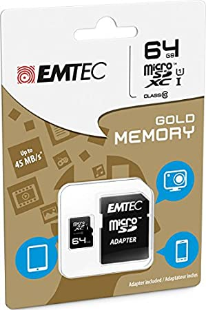 Emtec Class10 - Tarjeta microSD de 64 GB: Amazon.es: Informática