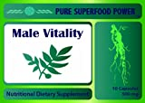 Male Vitality - Effective Natural Enhancement & Testosterone Booster - Horny Goat Weed