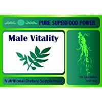 Male Vitality - Performance Enhancement Pills and Testosterone Booster - Horny Goat Weed, Tongkat Ali, Ginseng and More.