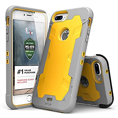 iPhone 7 Plus Case Zizo Proton Cover [Military Grade Drop Tested] with FREE 0.3m 9H [Tempered Glass Screen Protector] Kickstand Holster Belt Clip