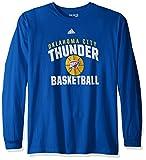 NBA Oklahoma City Thunder Adult Men Rep Big Go-To L/S Tee, Medium, Blue