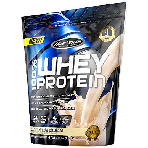 (MuscleTech 100% Whey Protein Powder, Vanilla Ice Cream, 5 Pound)