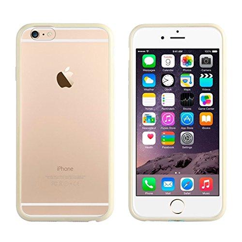 Phone Taschen & Schalen TPU Stoßfänger + Kunststoff zurück Fall für iPhone 6 Plus & 6S Plus ( Color : Gold )