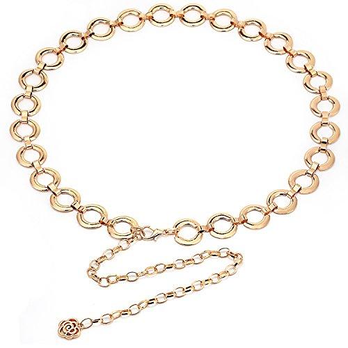 Women's Fashion Wild Metal Decorative Waist Chain (Gold)