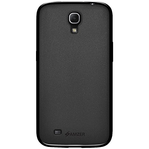 Amzer AMZ95842 Dual Tone TPU Hybrid Skin Fit Case Cover for Samsung Galaxy Mega 6.3 GT-I9200 - 1 Pack - Retail Packaging - Black