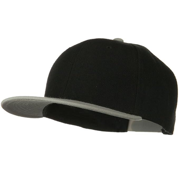 fb9019f92 Otto Caps Wool Blend Flat Visor Pro Style Snapback Cap - Grey Black at  Amazon Men's Clothing store: Baseball Caps