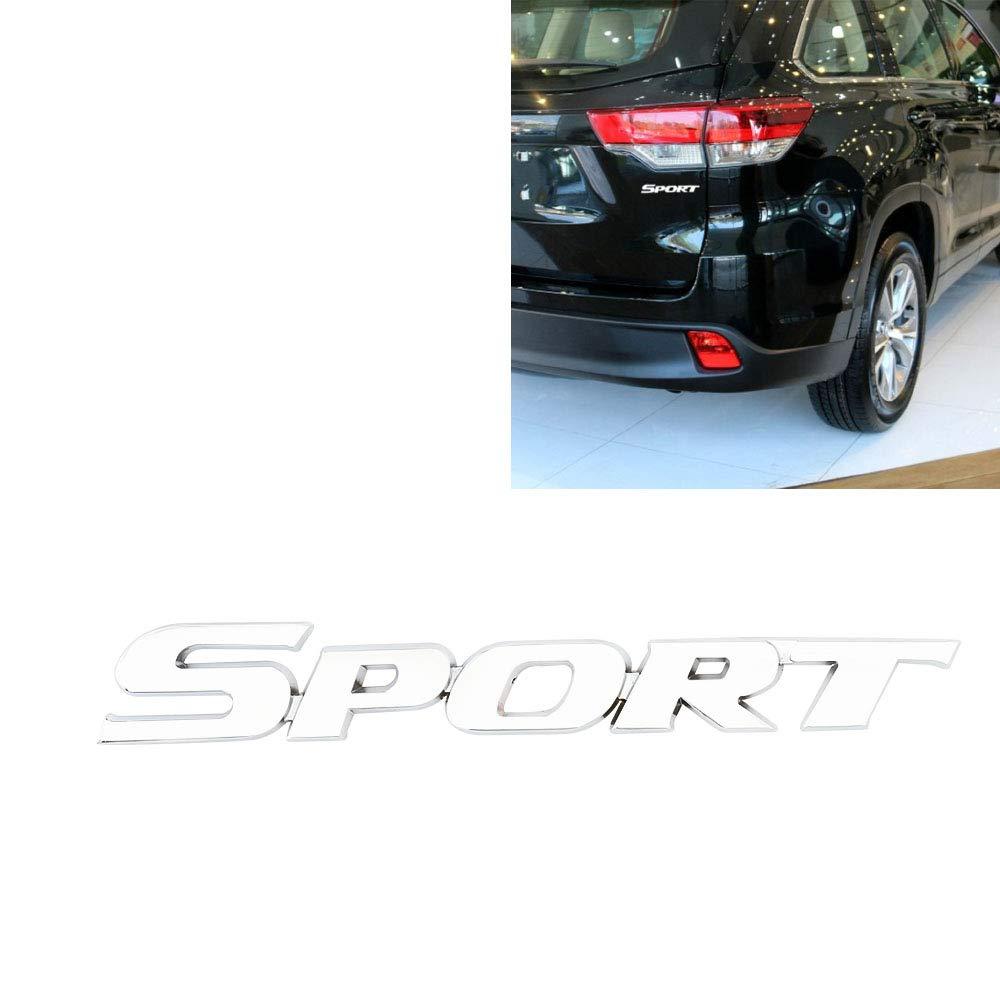 Senzeal 3D Adesivi in Metallo Sport per Auto Zinco Adesivo Etichetta Sport Emblema Distintivo Adesivi per Lo Styling Auto Decorazione Accessori Argento