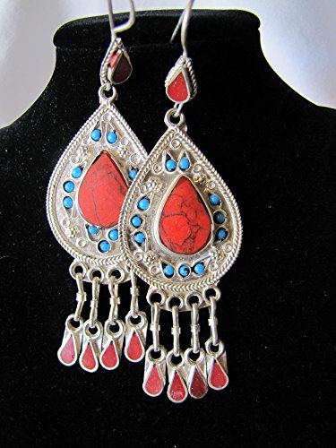 beautiful afghan style drop earrings, contemporary design and simple concept (Beautiful Afghan)