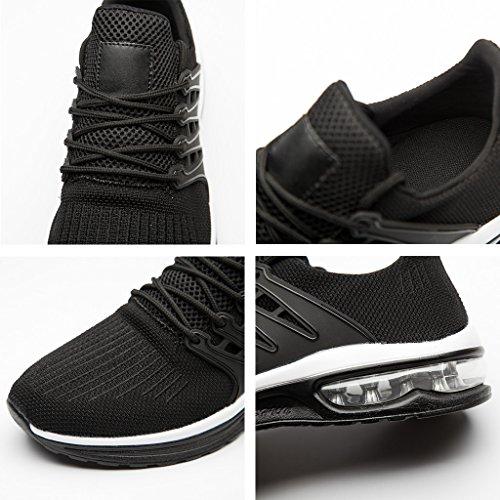 Gym Sneakers Chaussures Running Casual Sport de Chaussures Randonnee Plein Air Respirant Course de Fitness ZanYeing Mesh de Noir Homme Chaussures Chaussures Antidérapantes en w66p0