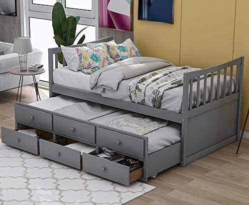 Danxee Kids Captain s Bed Twin Daybed