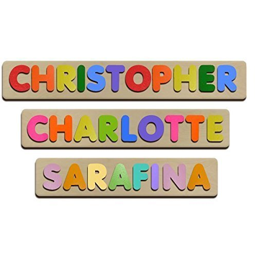 amazon com bubble fonts personalized wooden name puzzles child s