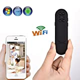 Mengshen® 1080P portable Pocket Pen Style WIFI hidden Spy Camera Wearable Video Voice Recorder Support Night Vision/ Motion detection/ Voice Recorder/ Take photos For Android IOS MS-WH24