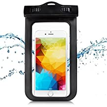 """KAMII Universal Waterproof Phone case - Best Dry Bag for Apple iPhone 6, 6s, 6 Plus, 6s Plus, 5, Samsung Galaxy S7, S6, LG G4, Nexus 6P. Smartphone Pouch Fits Screens Up to 6.5"""" Diagonal (Black)"""