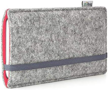 stilbag Funda de Fieltro Finn para Huawei Honor View 10 | Color: Gris/salmón | Bolsa de Fieltro para Smartphone | Cubierta para móvil | Made in Germany: Amazon.es: Electrónica