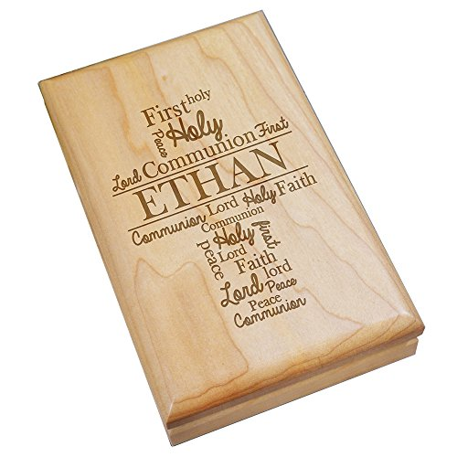 GiftsForYouNow Engraved First Communion Personalized Wood Valet Box ()