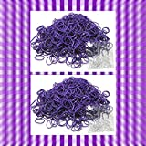 1200 Rubber Purple Color Bands Loom Refill with 50 Clips & Free