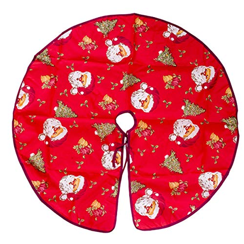 (60cm/90cm Cartoon Christmas Tree Skirt for Xmas Holiday Party Decoration (Color : Santa Claus Head, Size : 90cm(35.4