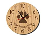 Paw Print Rustic Wooden Wall Clock Decorative Vintage Silent Non-ticking Home Decor Personalized Wall Clock for Living Room Bedrooms Gifts Choice 12 Inches Review