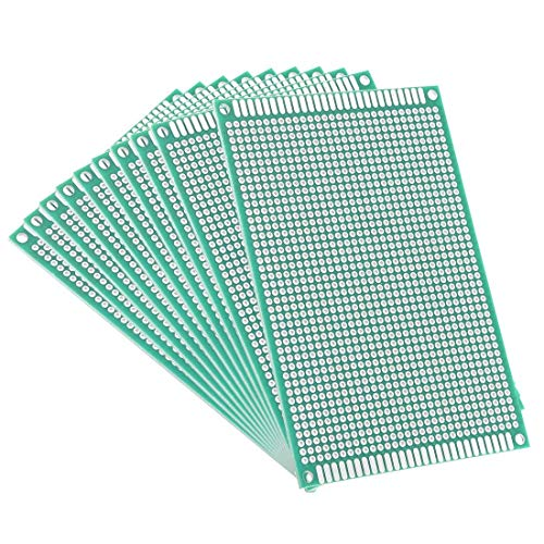 Printed Circuit Board Thickness - AUXcell 8x12cm Double Sided Universal Printed Circuit Board for DIY Soldering 10pcs