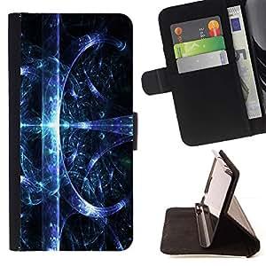 Momo Phone Case / Flip Funda de Cuero Case Cover - Espacio Abstracto Splash - LG OPTIMUS L90