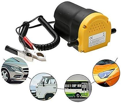 Nero Pompa di Estrazione Olio per Auto Ejoyous 12V DC Pompa di Estrazione Diesel Giallo 60W 250L // H Pompa di Scarico Olio Portatile con Tubi
