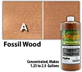 Concrete Stain Concentrate Just Add Water, User & Eco-Friendly Semi-Transparent Professional Grade Cement Stain, Concrete Resurrection Brand (32 ounce, Fossil Wood)