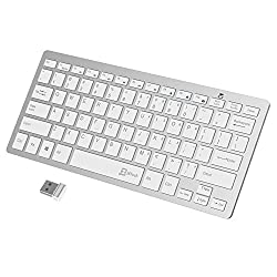 JETech Ultra-Slim 2.4G Wireless Keyboard for Windows (White) - 2161