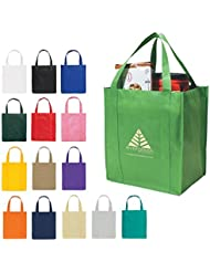 Kinetic Shopping Tote Bag 150 Quantity PROMOTIONAL PRODUCT BULK BRANDED With YOUR LOGO CUSTOMIZED 3031 Red