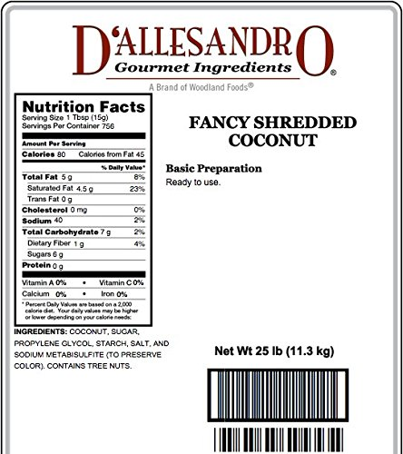 Fancy Shredded Coconut 25 Lb Bag by Angelina's Gourmet (Image #1)