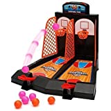 Gadget Zone® Tabletop 2 Player Basketball Game. Adults vs Kids in this Christmas Fun Family Game. Way More Fun Than it Looks, Quick & Easy to Set-Up Fantastic Compact Christmas Travel Game