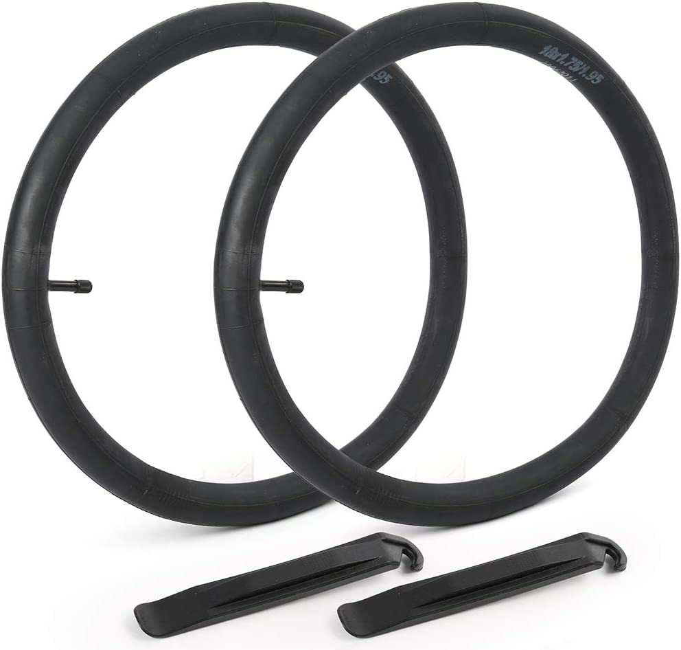 "LotFancy 2Pack 18in Bike Tube, 18""x 1.75/1.95 32mm Schrader Valve Bike Tube, Plus 2 Nylon Plastic Tire Levers"