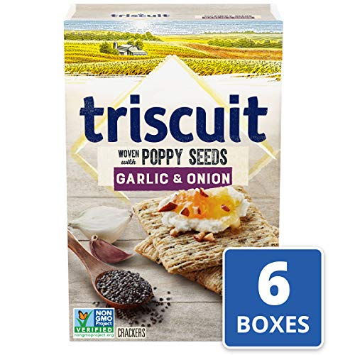 Triscuit Garlic & Onion with Poppy Seed Crackers (Pack of 6) Non-GMO