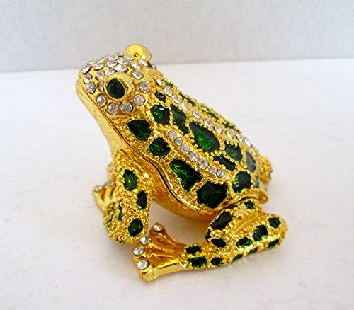 - Bejeweled Frog Collectible Trinket Jewelry Box