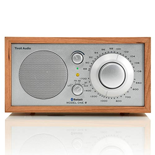 Tivoli Audio M1BTSLC Model One BT Bluetooth AM/FM Radio (Cherry/Silver)