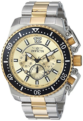 Invicta Men's 'Pro Diver' Quartz Stainless Steel Casual Watch (Model: 21955) (Invicta 53mm Watch)