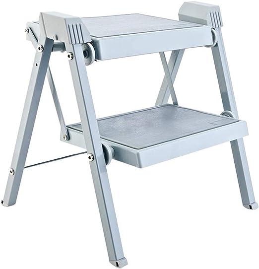SMBYLL Escalera Taburete Cocina Plegable Taburete Creativo, Simple, en casa, Multiuso, Doble Uso, Taburete Escalonado Interior, Dos Pasos, Engrosamiento, Escalera portátil Escalera Taburete Escalera: Amazon.es: Hogar