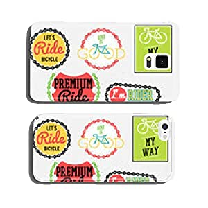 bicycle badges bicycle club badges colorful collection cell phone cover case Samsung S6
