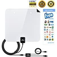 TV Antenna Indoor Digital Antenna 60 Mile 1080P HD Antenna High Perform Antenna Amplifier Better Reception (2017Model, FCC Certified)
