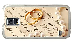 Hipster customizable Samsung Galaxy S5 Cases Gold Wedding Rings PC Transparent for Samsung S5