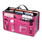 Youngman Women Travel Beauty Cosmetic Bag Makeup Pouch Toiletry Organizer Wash Handbag (Hot Pink)